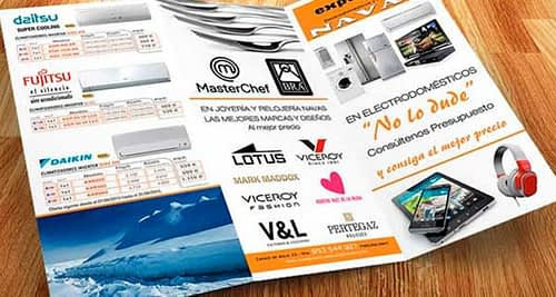 Ejemplos de folletos publicitarios